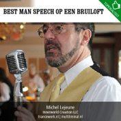 Best man speech op een bruiloft